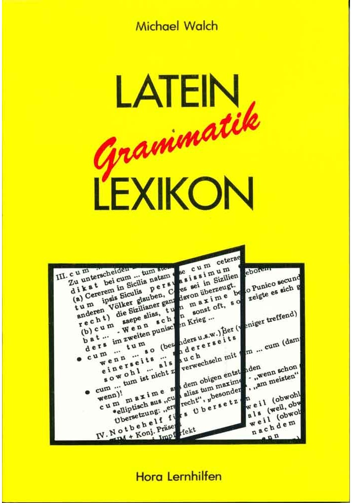 Latein Grammatik Lexikon