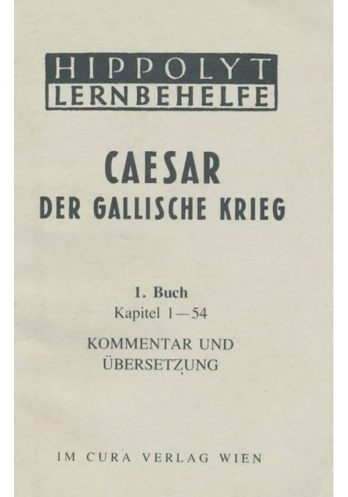 Caesar Der Gallische Krieg, 1. Buch