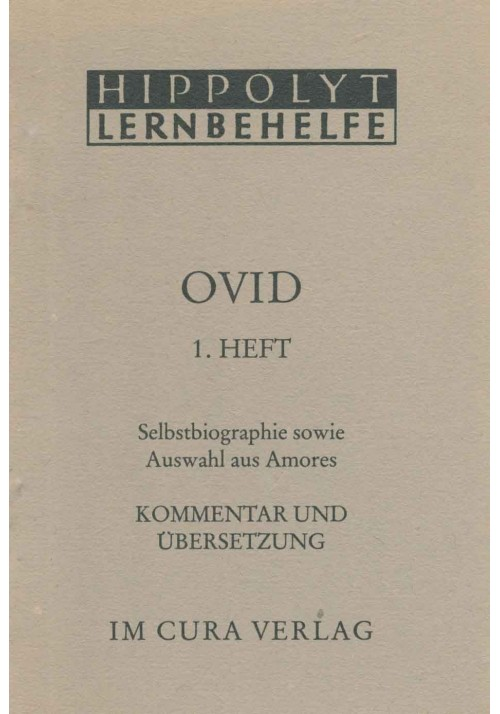 Ovid 1 - Selbstbiographie/Amores