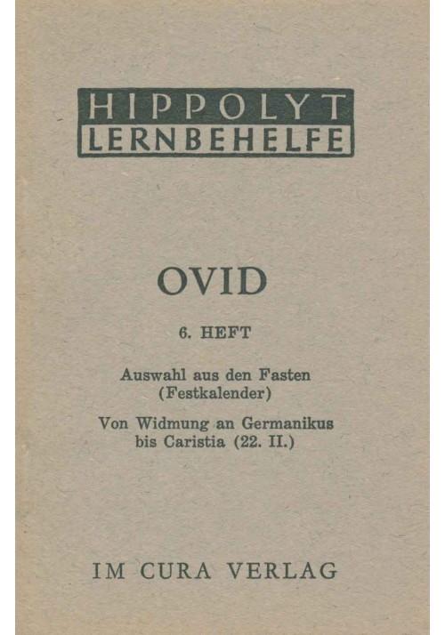Ovid 6 Fasten: Germanikus bis Caristia