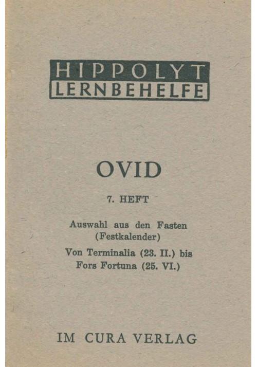 Ovid 7 Fasten: Terminalia - Fors Fortuna