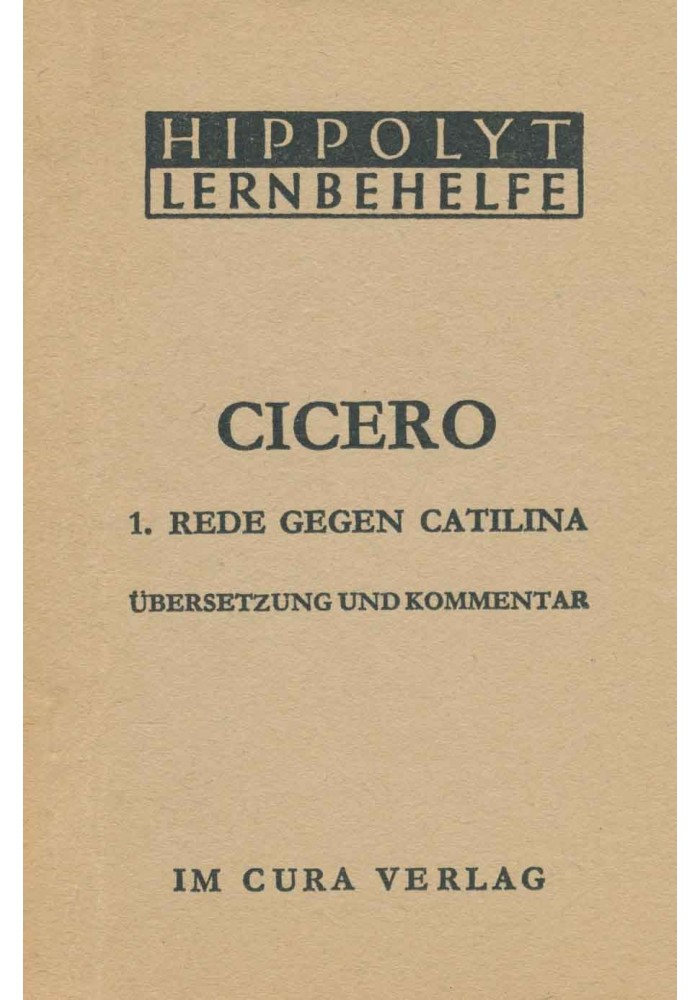 Cicero Catilina 1