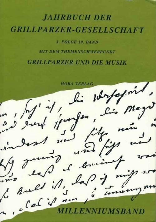 Jahrbuch der Grillparzer-Gesellschaft 3/19